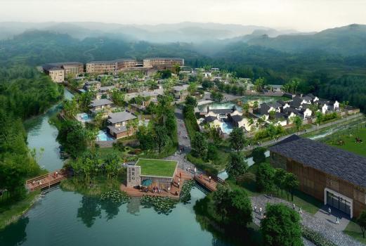 广东惠州市环南昆山森林温泉度假七星彩开奖号码产业园区总体规划