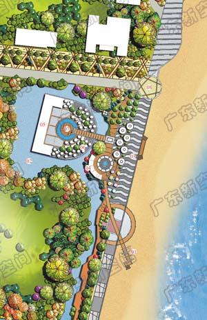 滨海景观设计平面分享展示